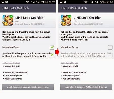 Cara Menghentikan Pesan Lets Get Rich LINE