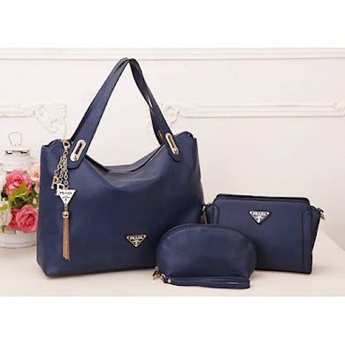 AAA WITH PRADA LOGO – NAVY BLUE
