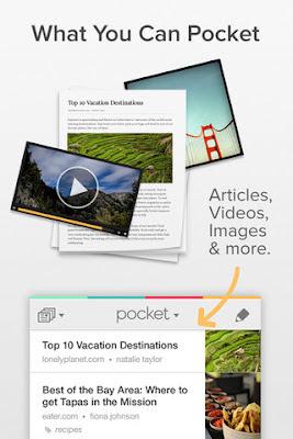 Pocket Read it later para Android e iphone, Guarda artículos para más tarde