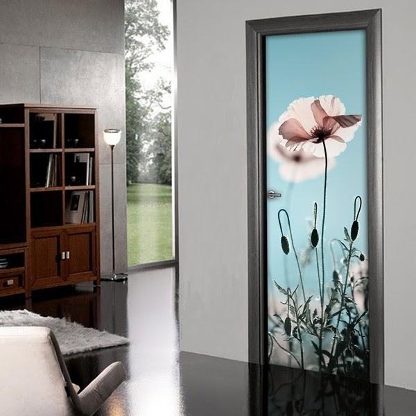 Papel pintado decoraci n de puertas - Papel pintado para puertas ...