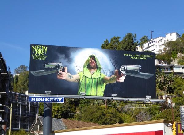 Neon Joe Werewolf Hunter TV miniseries billboard