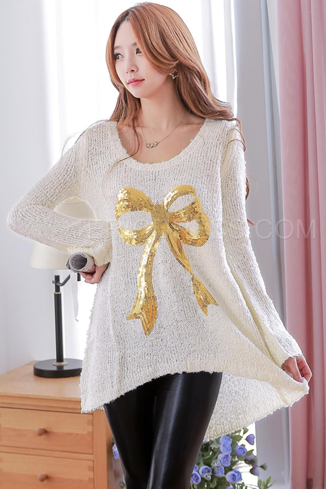 http://www.ericdress.com/product/White-Loose-Long-Sleeve-A-Line-Sweater-Dress-11048419.html