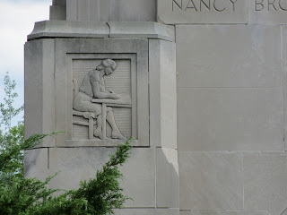 Nancy Brown relief from the Peace Carillon