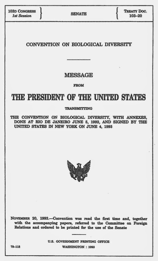 103rd Congress, 1st Session, U.S. Senate Treaty Document 103-20, June 4, 1993.
