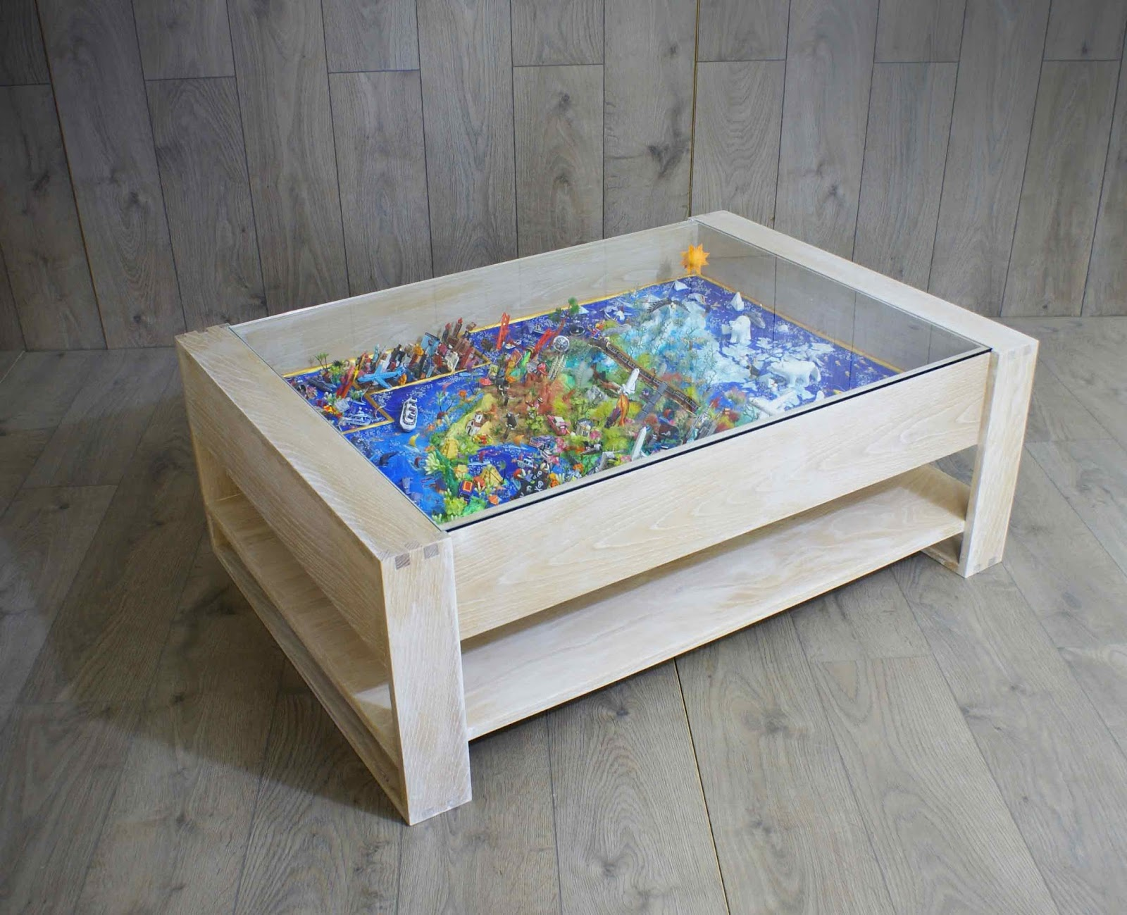Lee Sinclair Furniture 3d map display coffee table
