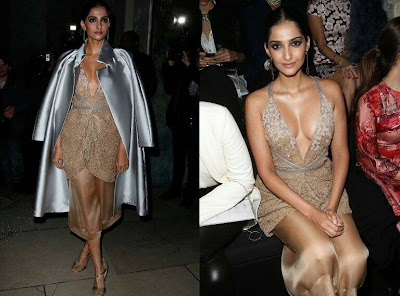 Sonam Kapoor in Giorgio Armani at Armani Prive Couture 2015 Paris Couture Week