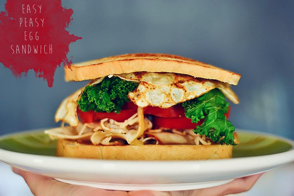 Easy Peasy Egg Sandwich ~ Amandakeener.com - A Creative Blog