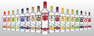 18 different flavors of smirnoff vodka
