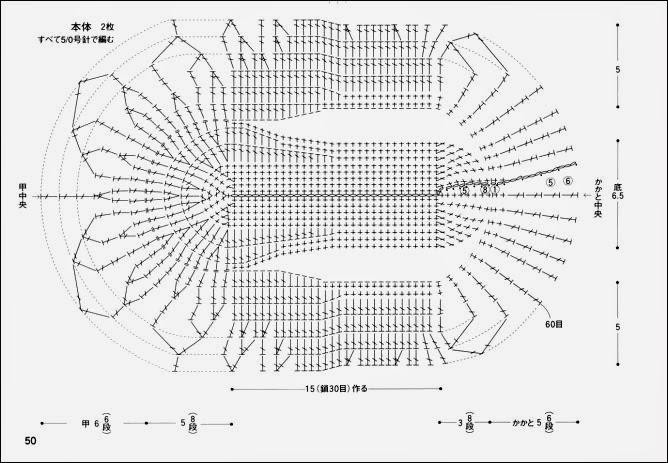 Вязаные балетки крючком со схемами фото