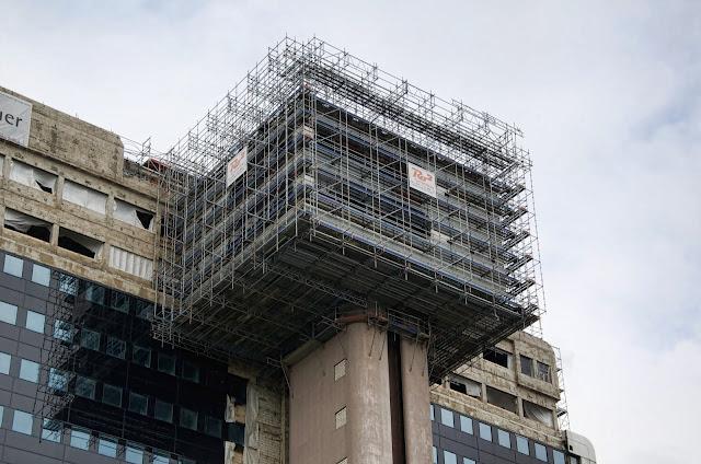 Baustelle Philips-Hochhaus, 73 Meter Höhe, Hotelkette Riu, Martin-Luther-Straße 1 / Kleiststraße, 10777 Berlin, 03.09.2013
