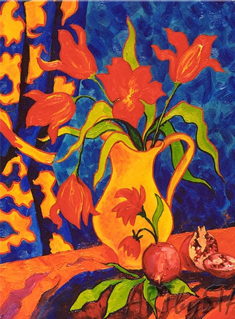 Im genes arte pinturas bodegones modernos flores de for Pinturas bodegones modernos
