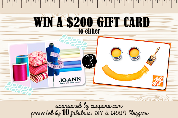 Win a $200 Gift Card to JoAnn or Home Depot at LoveGrowsWild.com