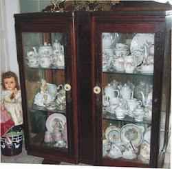 Coleção de xícaras, bules de Porcelana