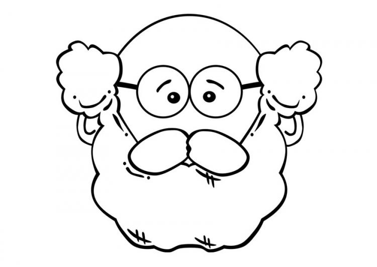 COLOREA TUS DIBUJOS: Rostro de Abuelo para colorear y pintar