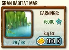 habitat mejorado de mar