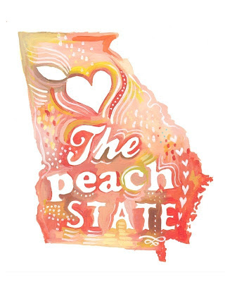 the wheatfield etsy shop - Georgia peach state - miss prissy paige
