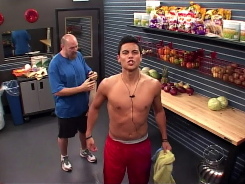Dominic Briones Shirtless in Big Brother 13 week 2