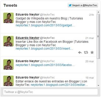 Widget de Tweets por Twitter