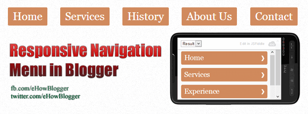 Responsive Navigation Menu in Blogger