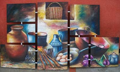 Julio melgar pintor peruano cocina campesina peruana for Cuadros mexicanos rusticos