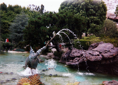 King Triton Triton's Fountain Grotto Garden Disneyland Mermaid