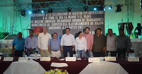 Convive Américo Zúñiga con trabajadores al servicio del Ayuntamiento de Xalapa