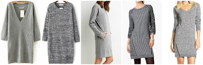 Romwe V Neck Sweater Dress $16.00 (regular $30.28)  Romwe Long Sleeve Straight Sweater Dress $16.67 (regular $31.72)  Forever 21 Raglan Sweater Dress $22.90  NY Collection Mixed Knit Sweater Sheath Dress $48.00 (regular $60.00)  BP. Zip Detail Sweater Dress $58.00