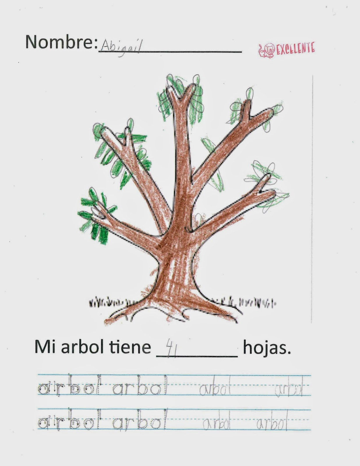 parts of a tree in spanish