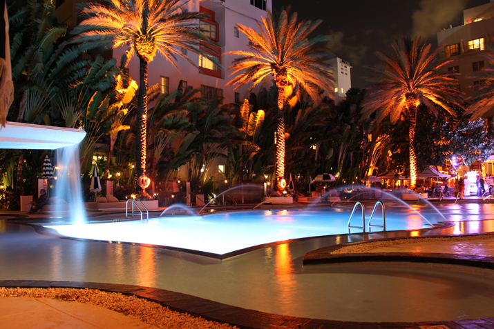 The Raleigh hotel, South Beach, Miami was the location of the Mercedes - Benz Fashion Week Swim 2013