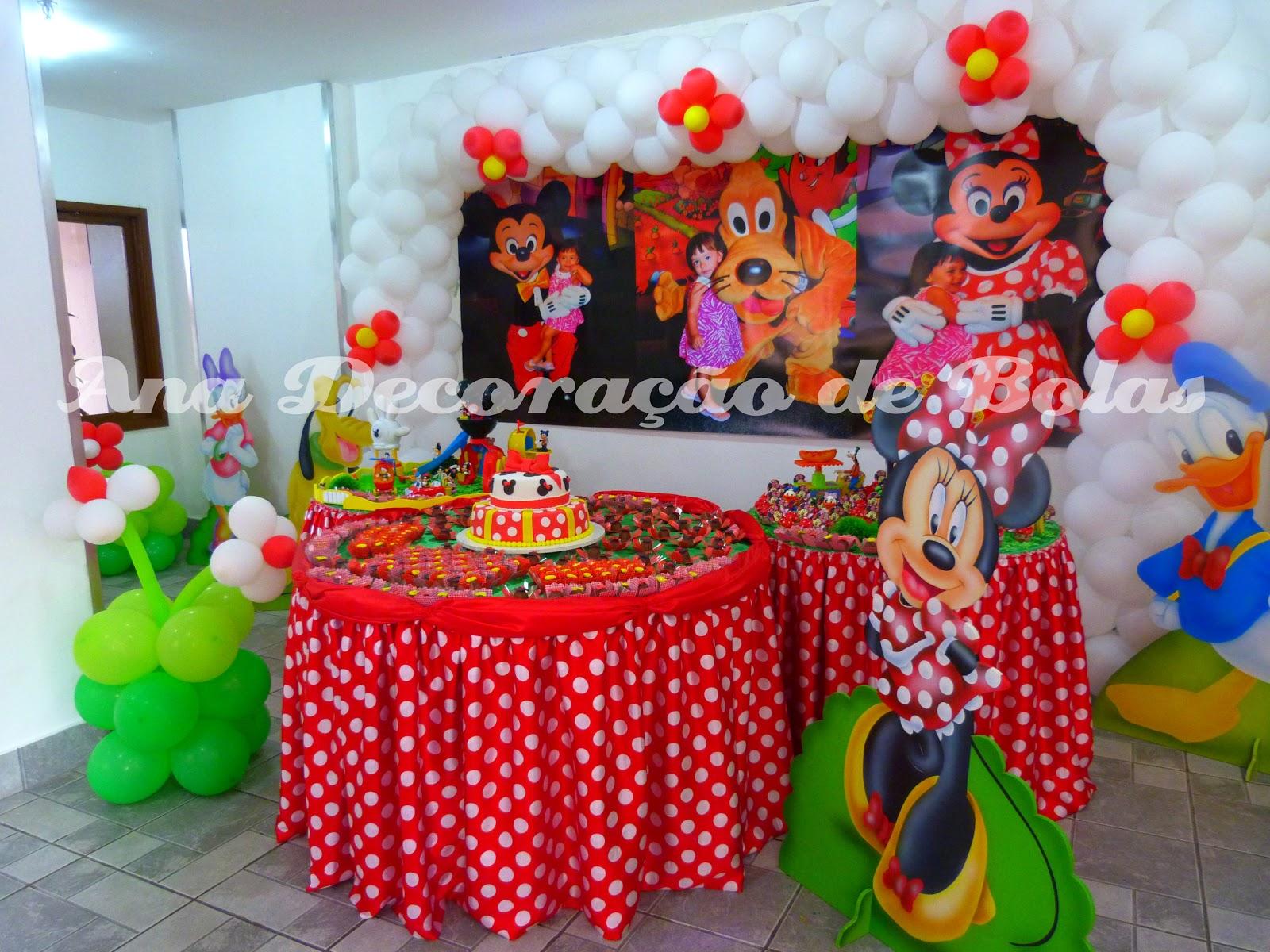 Ana Decoração de Bolas Festa Minnie Vermelha