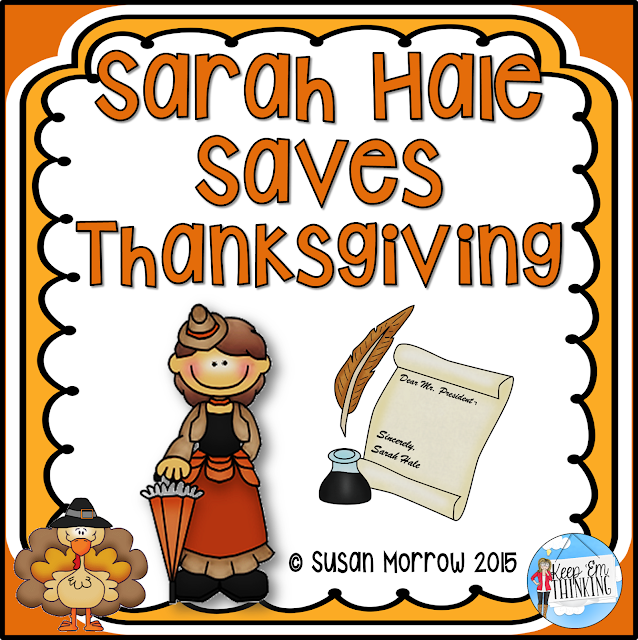 https://www.teacherspayteachers.com/Product/Sarah-Hale-Saves-Thanksgiving-Literature-Guide-964813