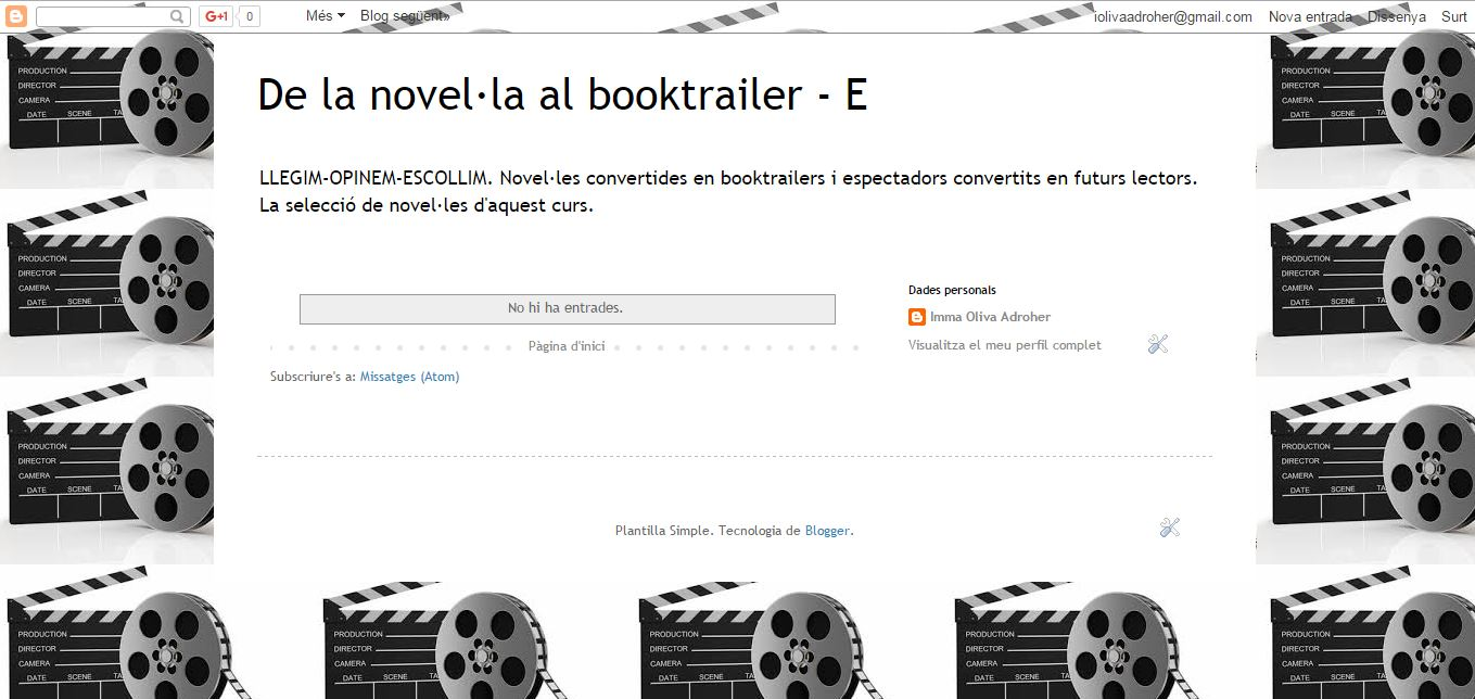 BLOG DE LA NOVEL·LA AL BOOKTRAILER_E curs 15-16