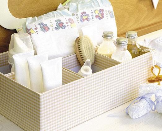 Caja para guardar pañales y productos de higiene