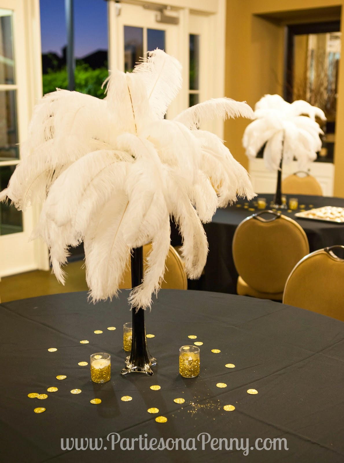 Parties on a penny my goodbye roaring 20 39 s 30th for 20s party decoration ideas
