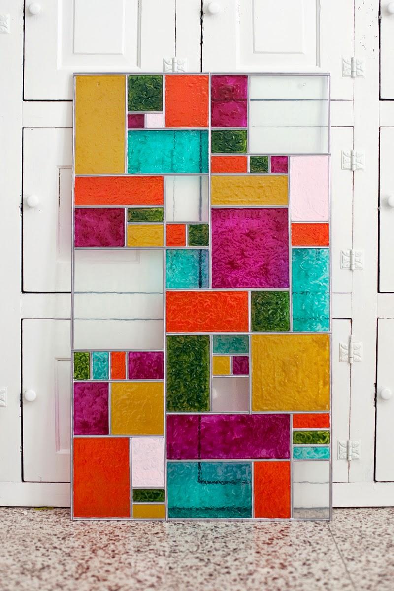 Bleiglas – wundervolle Fensterdeko zum Selbermachen – ein buntes Glasfenster für Küche, Bad & Co