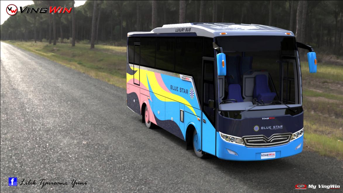 Design Bus VingWin PO Bluestar