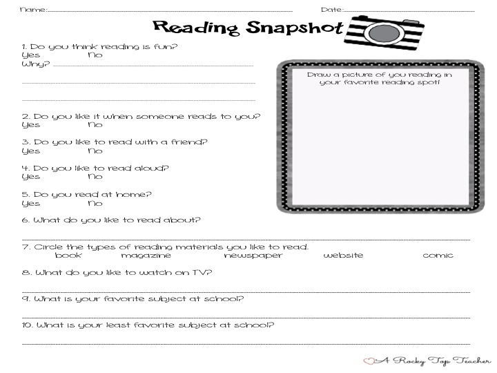 A Rocky Top Teacher: Reading Interest Survey