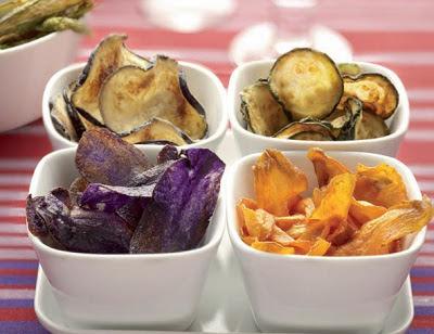 chips di verdure, verdure fritte