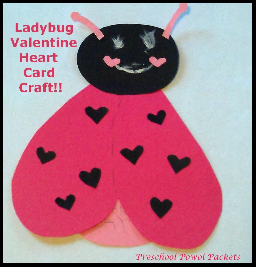 Ladybug Valentine Heart Card Craft – Valentine Card Preschool