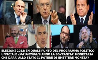 ELEZIONI POLITICHE 2013 PROLOGO ED EPILOGO