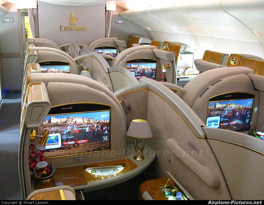 emirates airbus a380 interior the image