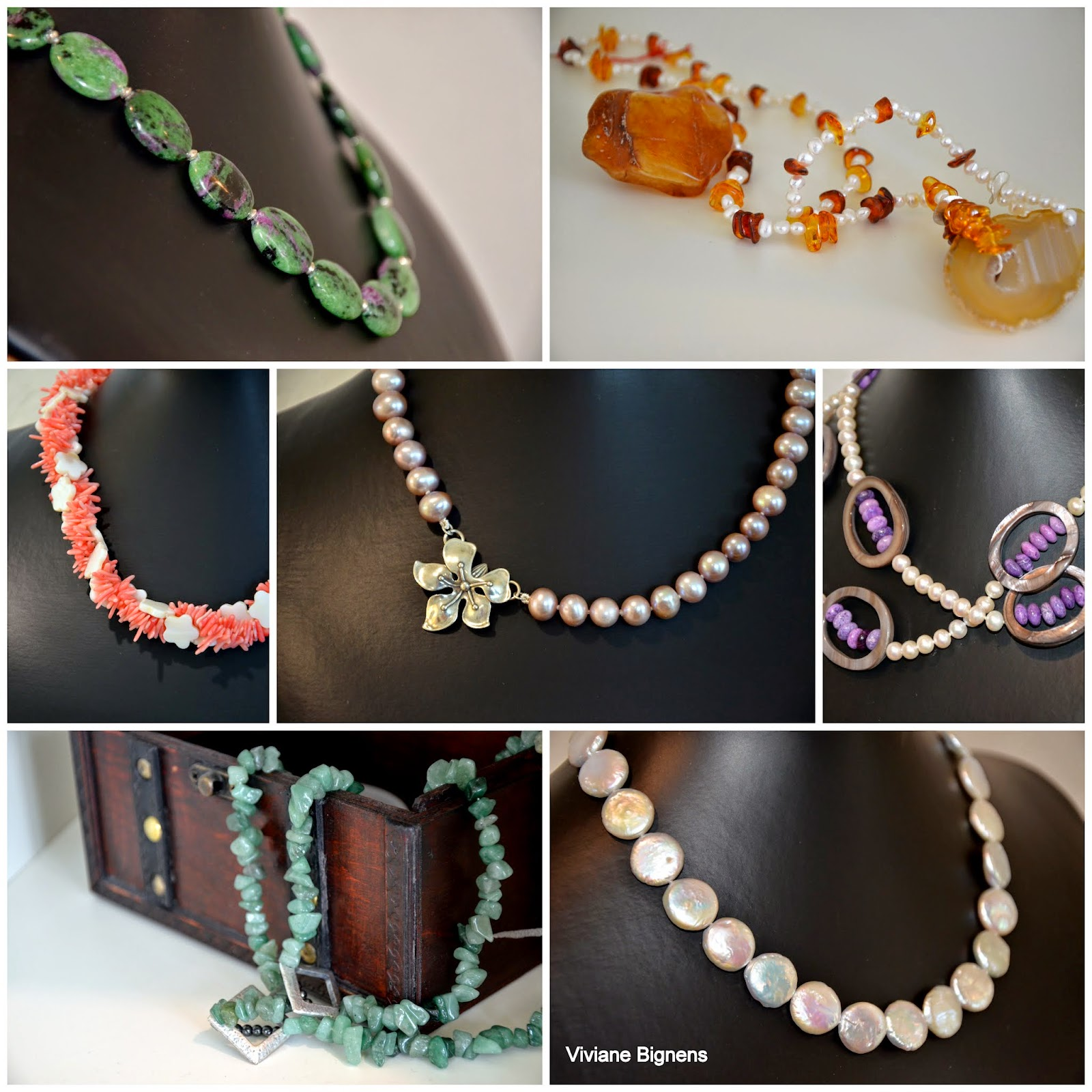 Isabel Gratier, perles, colliers
