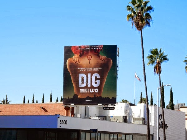 Dig series launch billboard