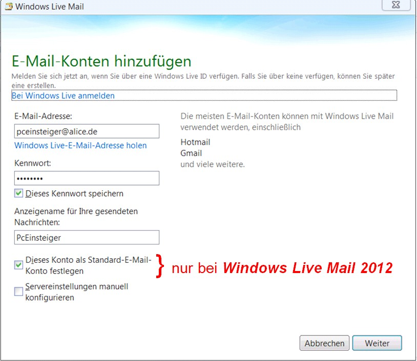 alice windows mail