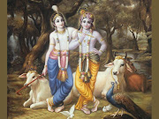 The Dark God Krishna with FairComplexioned Shri Balram