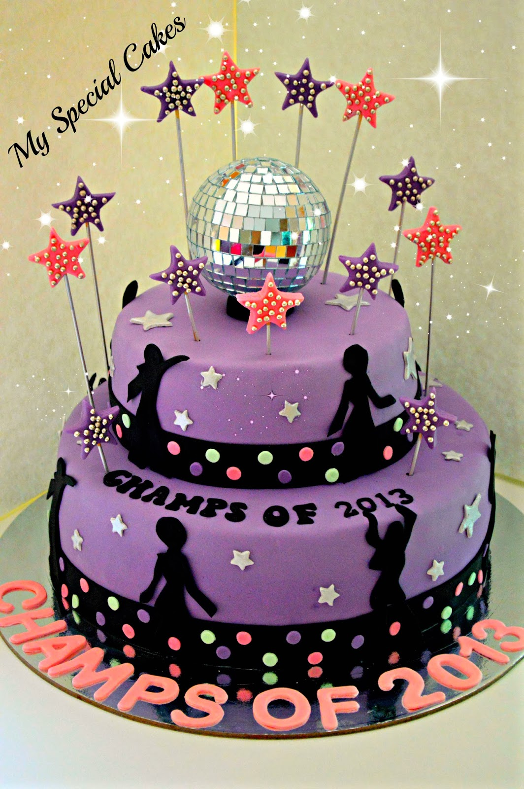 Disco Party Cake Images : My Special Cakes: Disco Themed Cake