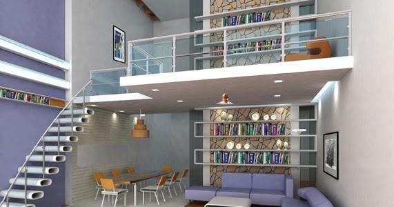 tips dekorasi interior ruangan dengan atap tinggi desain