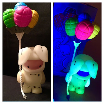 "Salt Lake Comic Con 2015 Exclusive ""UhOH"" Felipe Glow in the Dark Vinyl Figure by Juan Muniz"