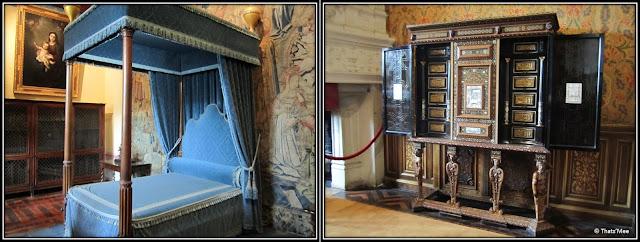 Les chambres chateau de Chenonceau Renaissance Pays de Loire, château des Dames