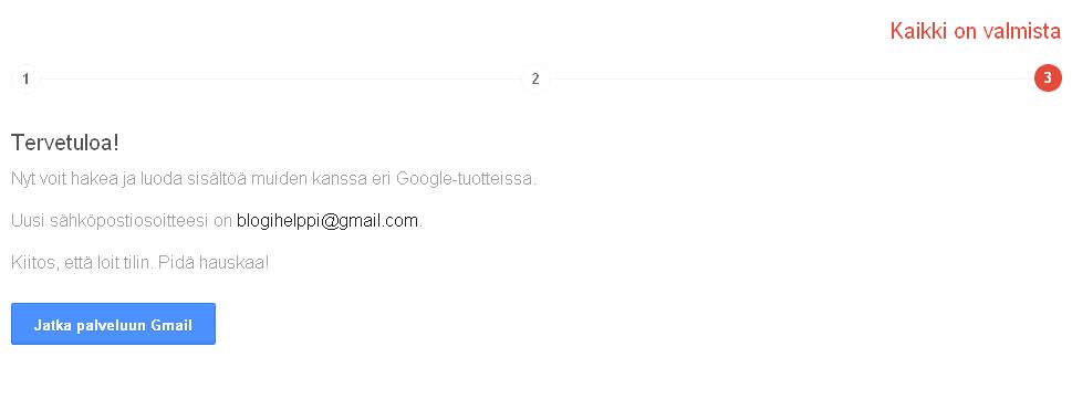 gmail sähköpostiosoite Iisalmi